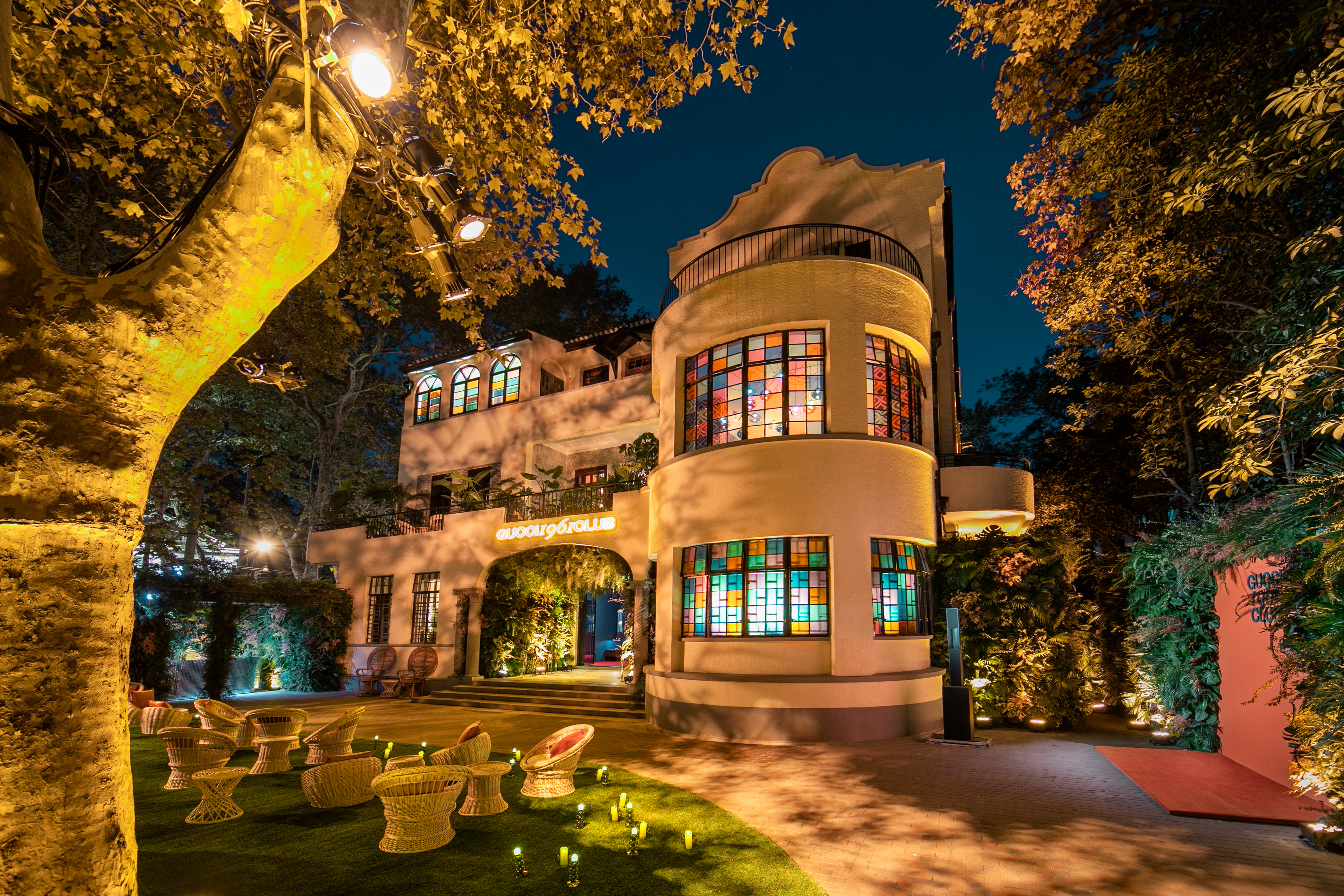 "Gucci on Thursday transformed the city's legendary mansion Hengshan House into the ""Gucci 1961 Club."""