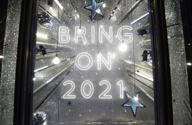 Harvey Nichols has unveiled its 2020 Christmas windows in the midst of a national lockdown in England.
