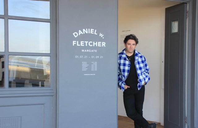 Daniel Fletcher outside his new Margate, England pop-up shop.