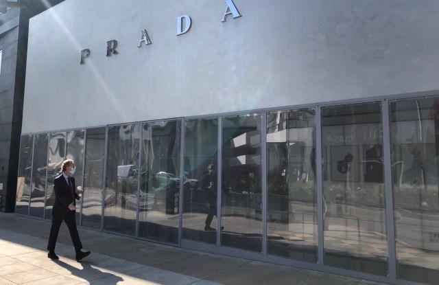 Prada, L.A. retail closing Election Day