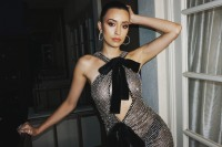 Christian Serratos in Tom Ford.