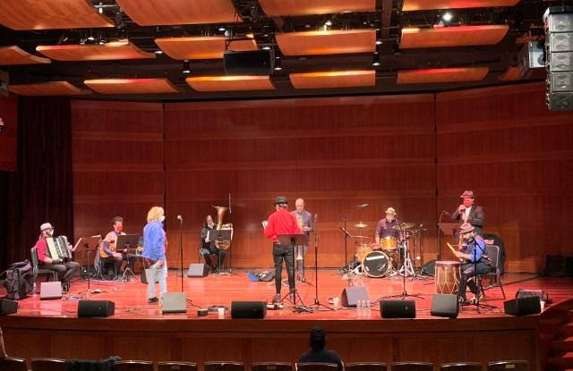 A performance featuring Frank London's Klezmer Brass Allstars.