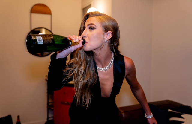 """just a drop of champagne wasn't gonna work for my nerves tonight"""