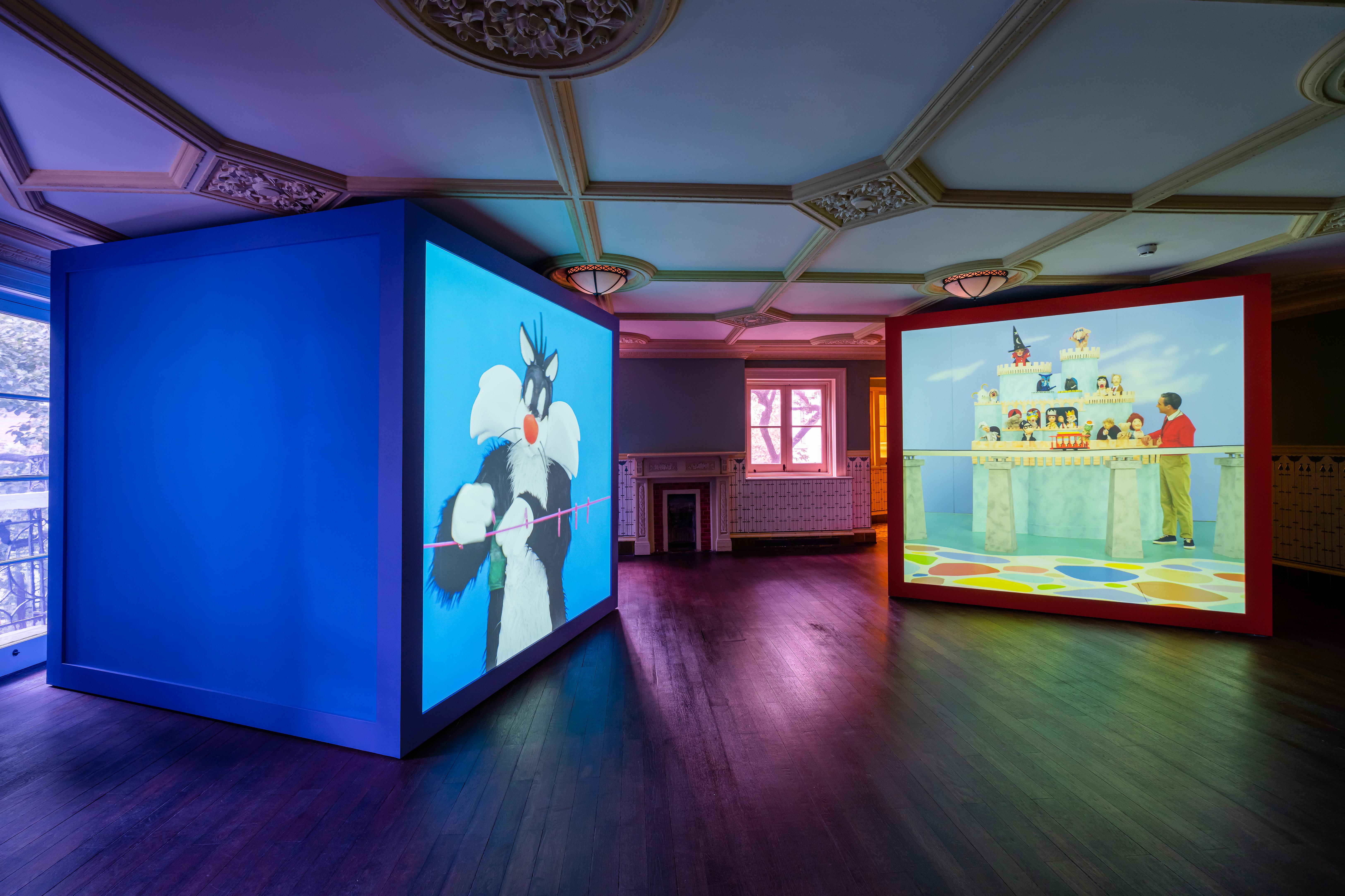 "American artist Alex De Corte's video work ""Rubber Pencil Devil"" exhibition at Prada Rong Zhai in Shanghai."