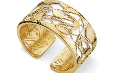 From Judith Ripka, the Adoro earring in 18-karat vermeil, diamond and enamel, priced $750.