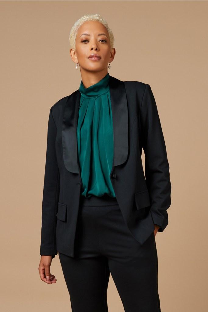 The J Jason Wu jacket and blouse.