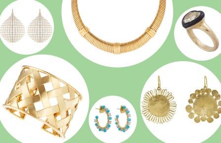 Fernando Jorge's earrings; Barbara Allen de Kwiatkowski's bracelet, ring and necklace; Irene Neuwirth's earrings and Judy Geib's earrings.