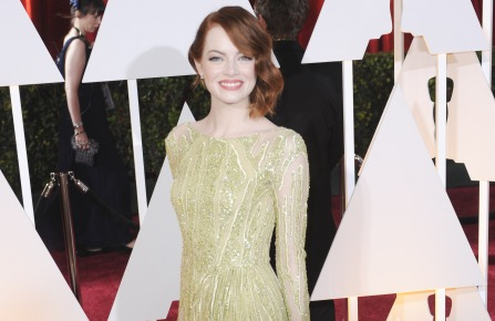 Emma Stone at the 2015 Academy Awards in an Elie Saab gown
