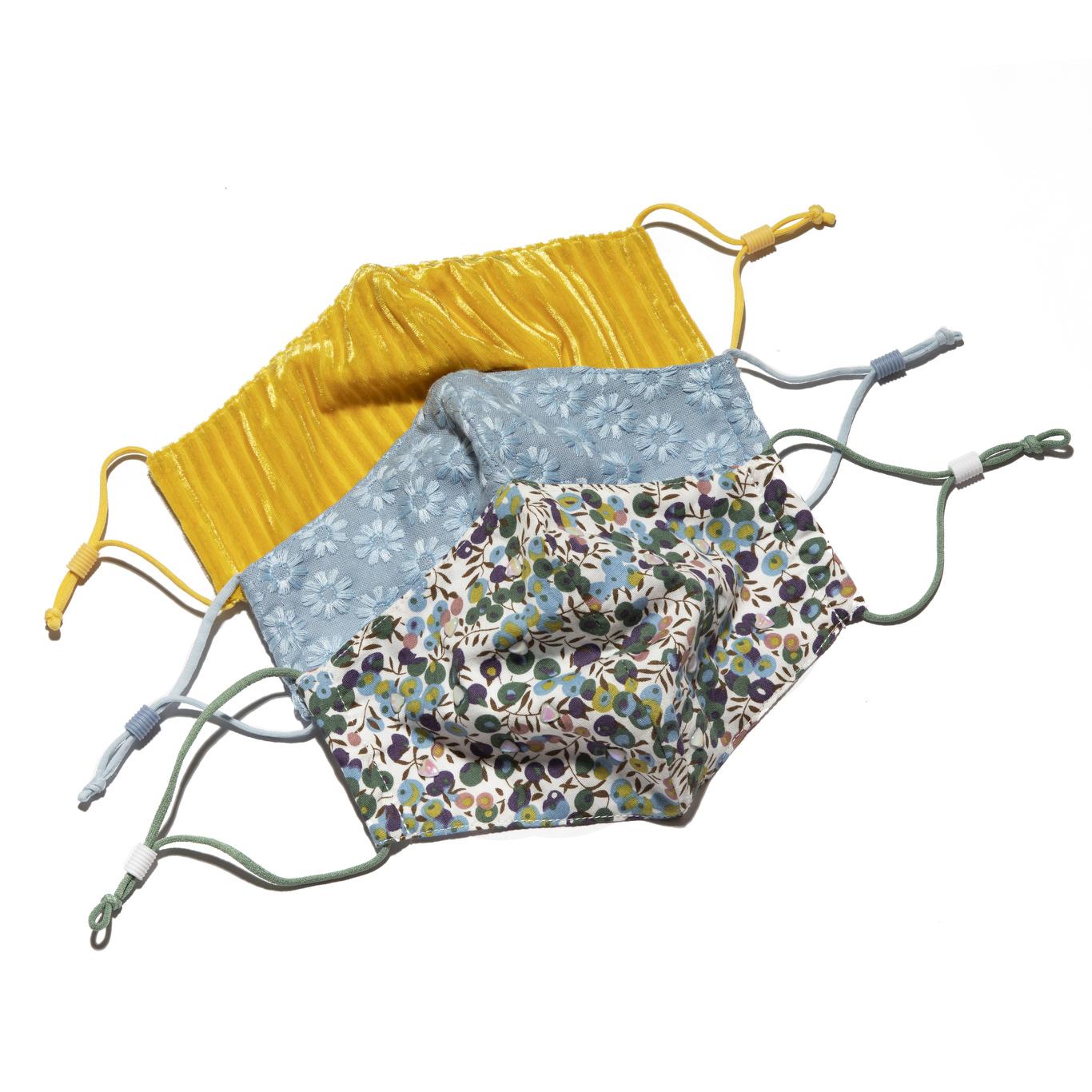 Floral design masks by Lele Sadoughi