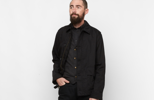 A look from Billy Reid's capsule for Mumford & Sons.