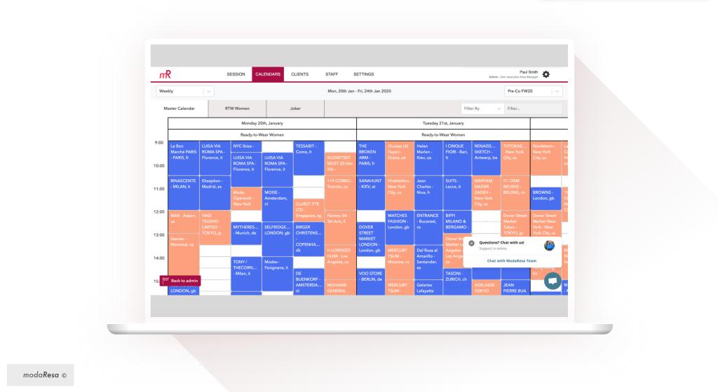 A ModaResa calendar