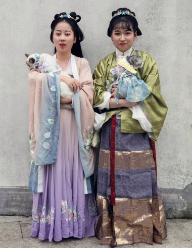 Attendees at the Xitang Hanfu Festival in China.