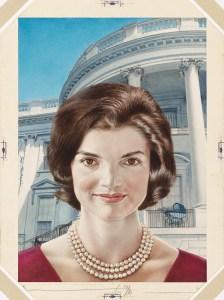 Jacqueline Kennedy Onassis by Boris Chaliapin