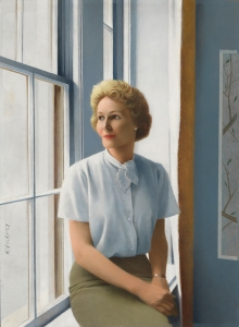 Pat Nixon by Robert Vickrey