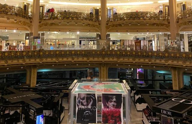 The Galeries Lafayette department store in Paris is among stores that must close temporarily.