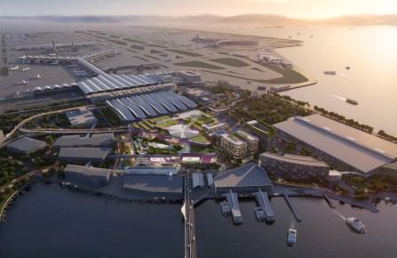 A rendering of Hong Kong's Skycity development.