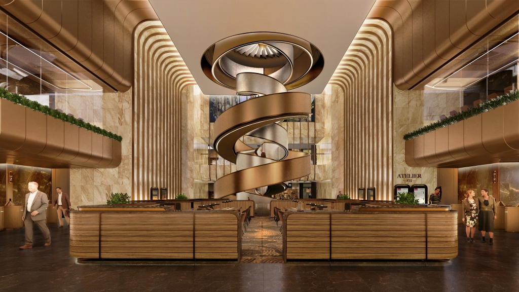 A rendering of New World Development's 11 Skies interior.