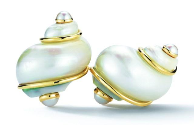 Seaman Schepps' classic shell earring design.