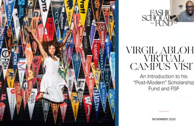 Virgil Abloh and Fashion Scholarship Fund's Virtual Campus Visit