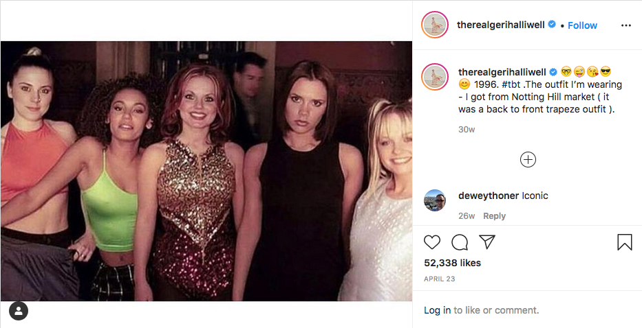 A post from Geri Halliwell's Instagram account.