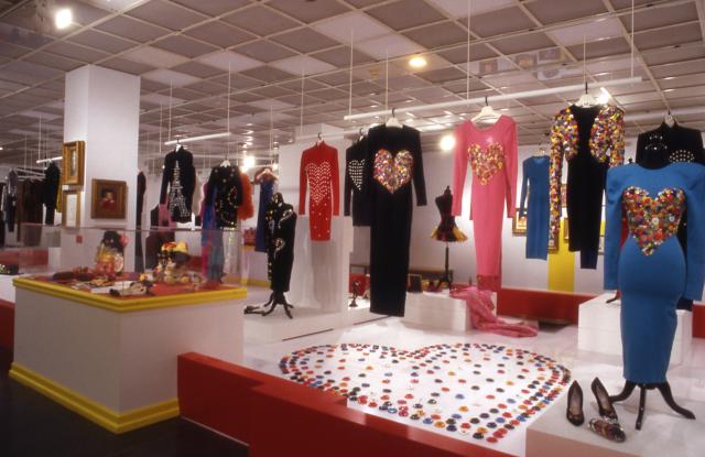 Installation view, Patrick Kelly: A Retrospective. Brooklyn Museum, 2004