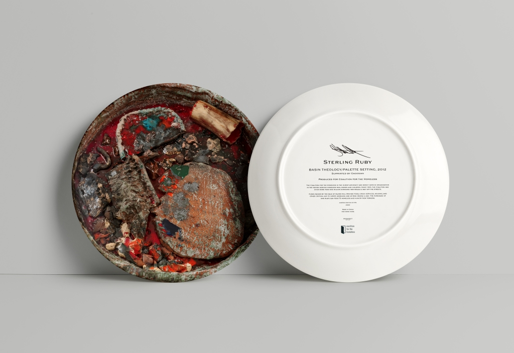 Sterling Ruby, Basin Theology/PALETTE SETTING, 2012 for the Coalition for the Homeless's Artist Plate Project, 2020.