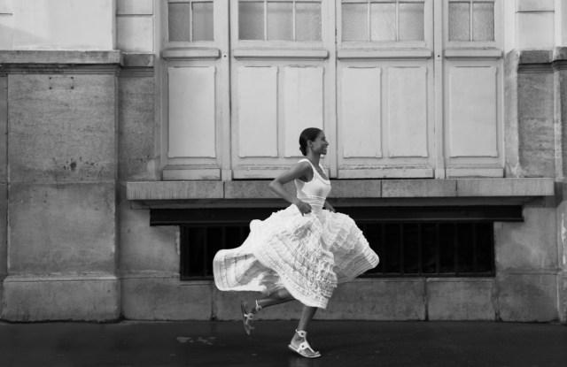 Alaia crinoline dress