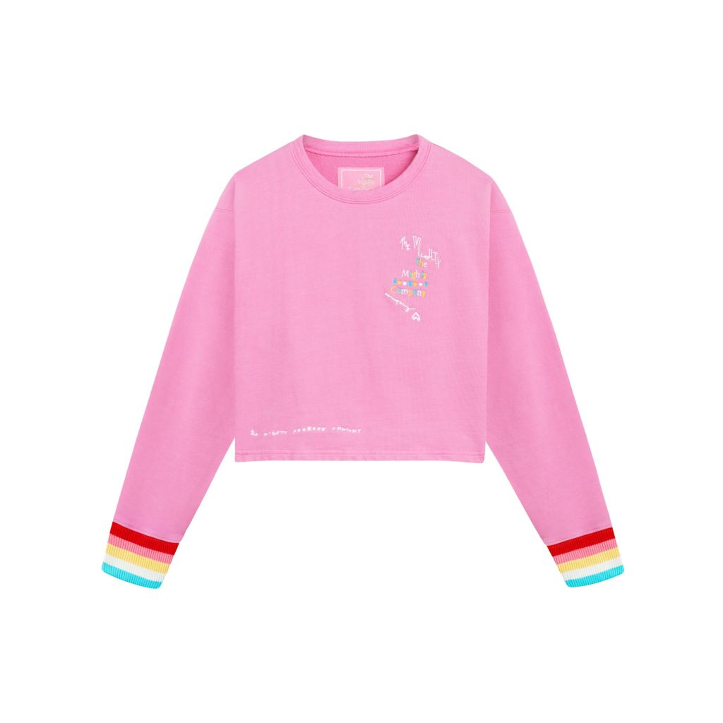 Christmas Gifts 2020 The Mighty Company pink rainbow sweatshirt