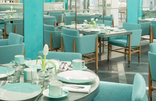 Tiffany Blue Box Cafe at South Coast Plaza.