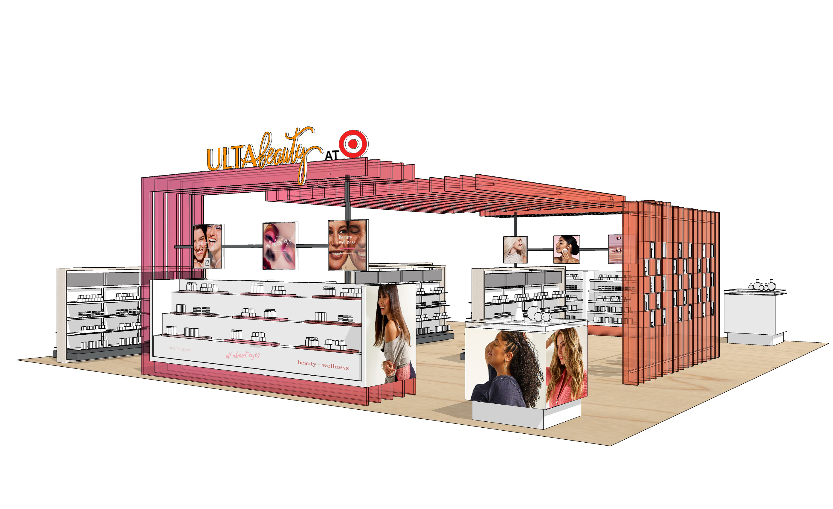 A rendering of Ulta Beauty at Target