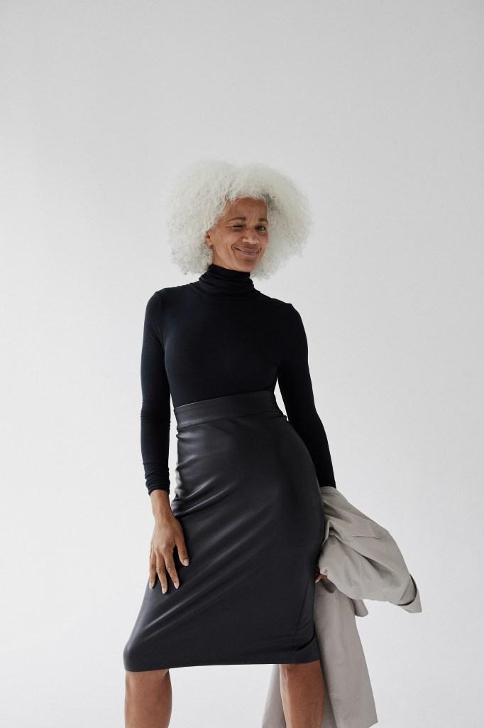 High-polish: the turtleneck and skirt