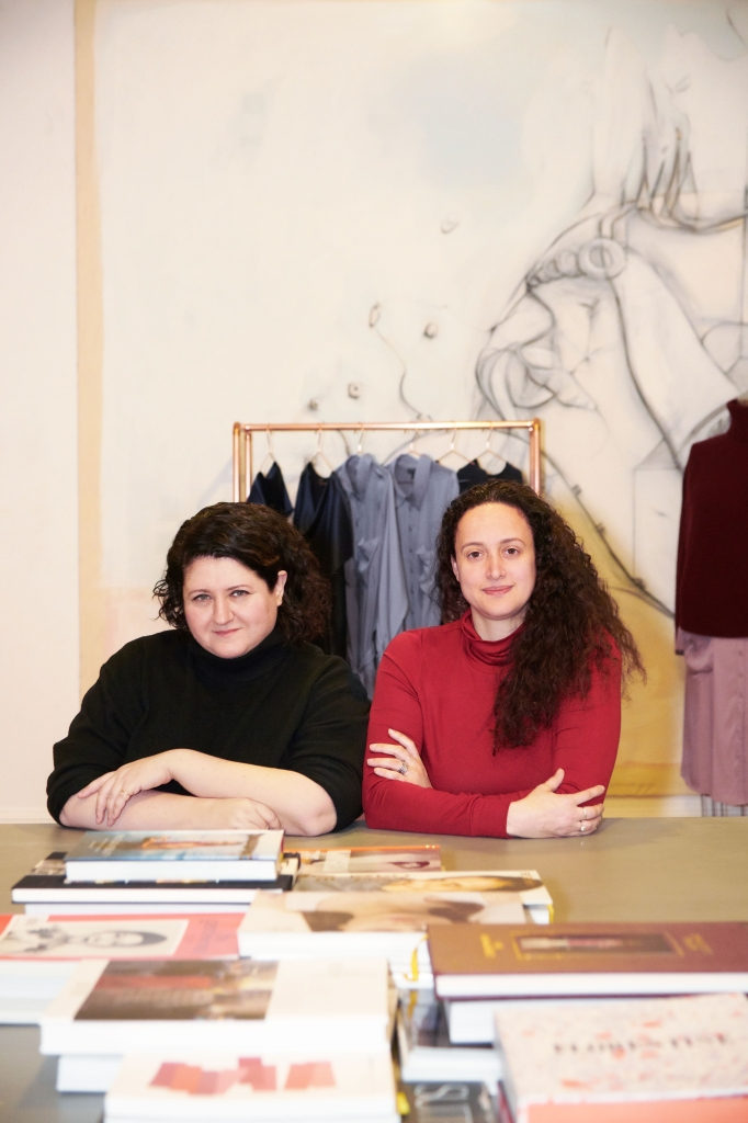 Alexandra Waldman and Polina Veksler at work