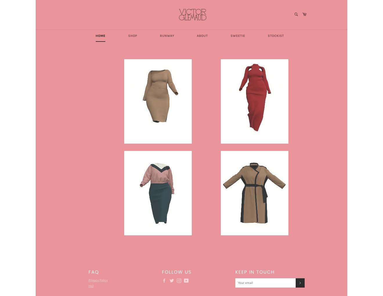 Victor Glemaud website screenshot
