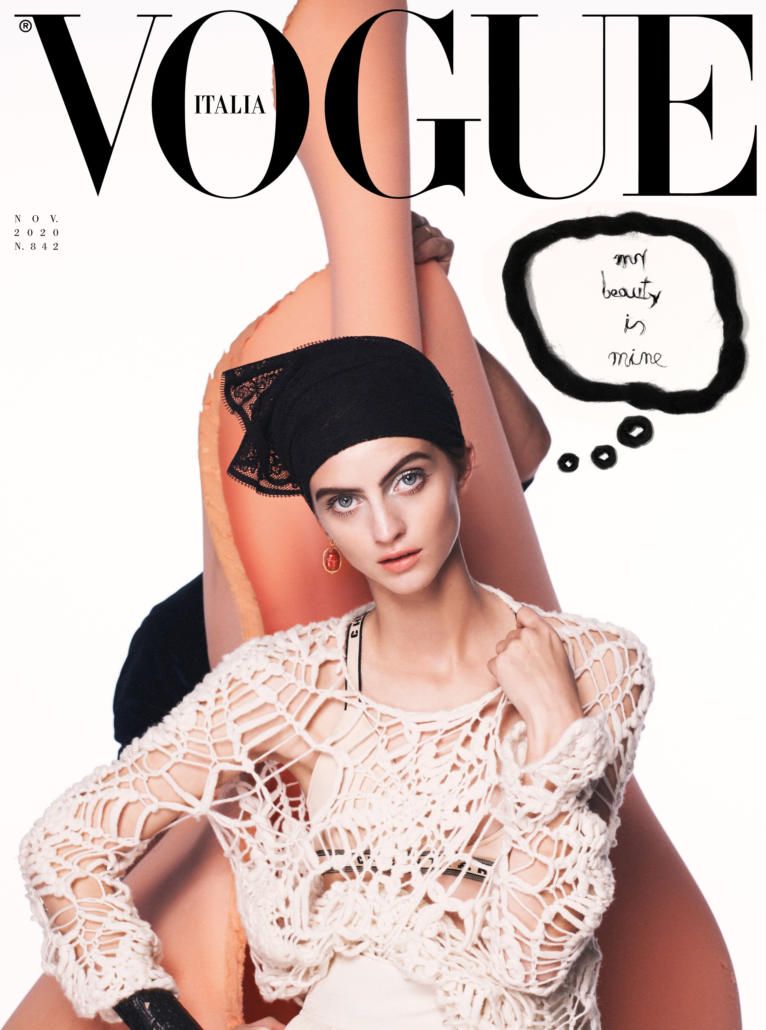 The cover of Vogue Italia's November issue.