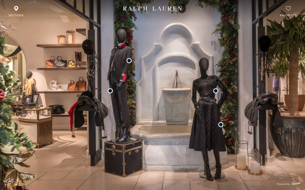 The Ralph Lauren virtual store.