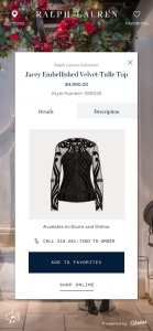 Virtual shopping has been popular with the Ralph Lauren customer.
