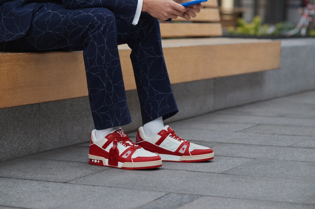 The Louis Vuitton I (Red) Trainer.