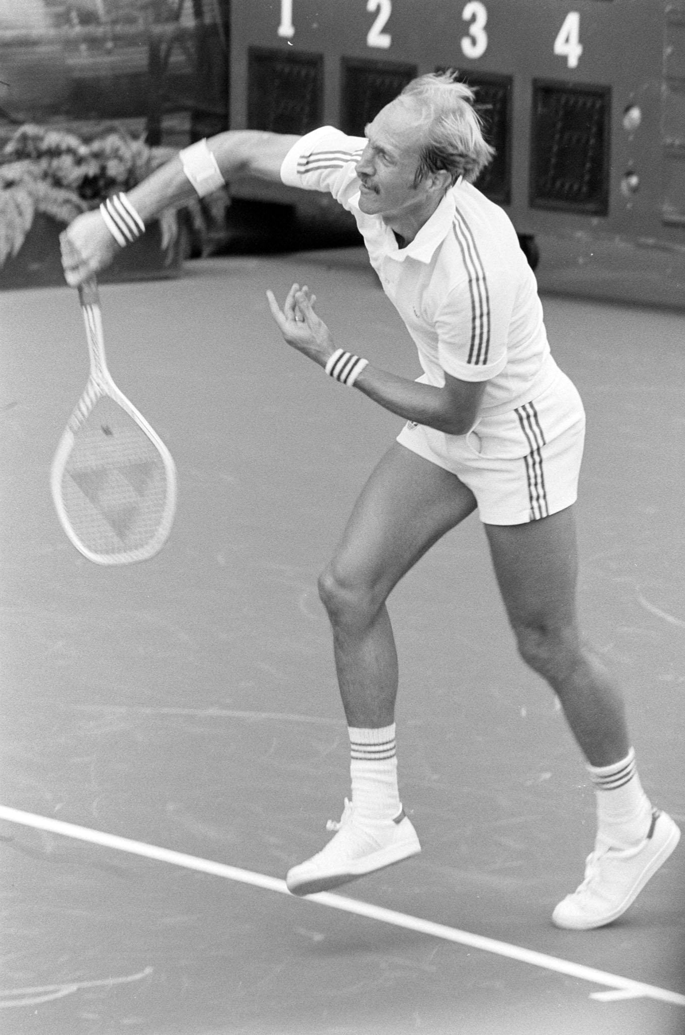 Stan Smith competes in the US Open Grand Slam Tournaments in New York, 1981.