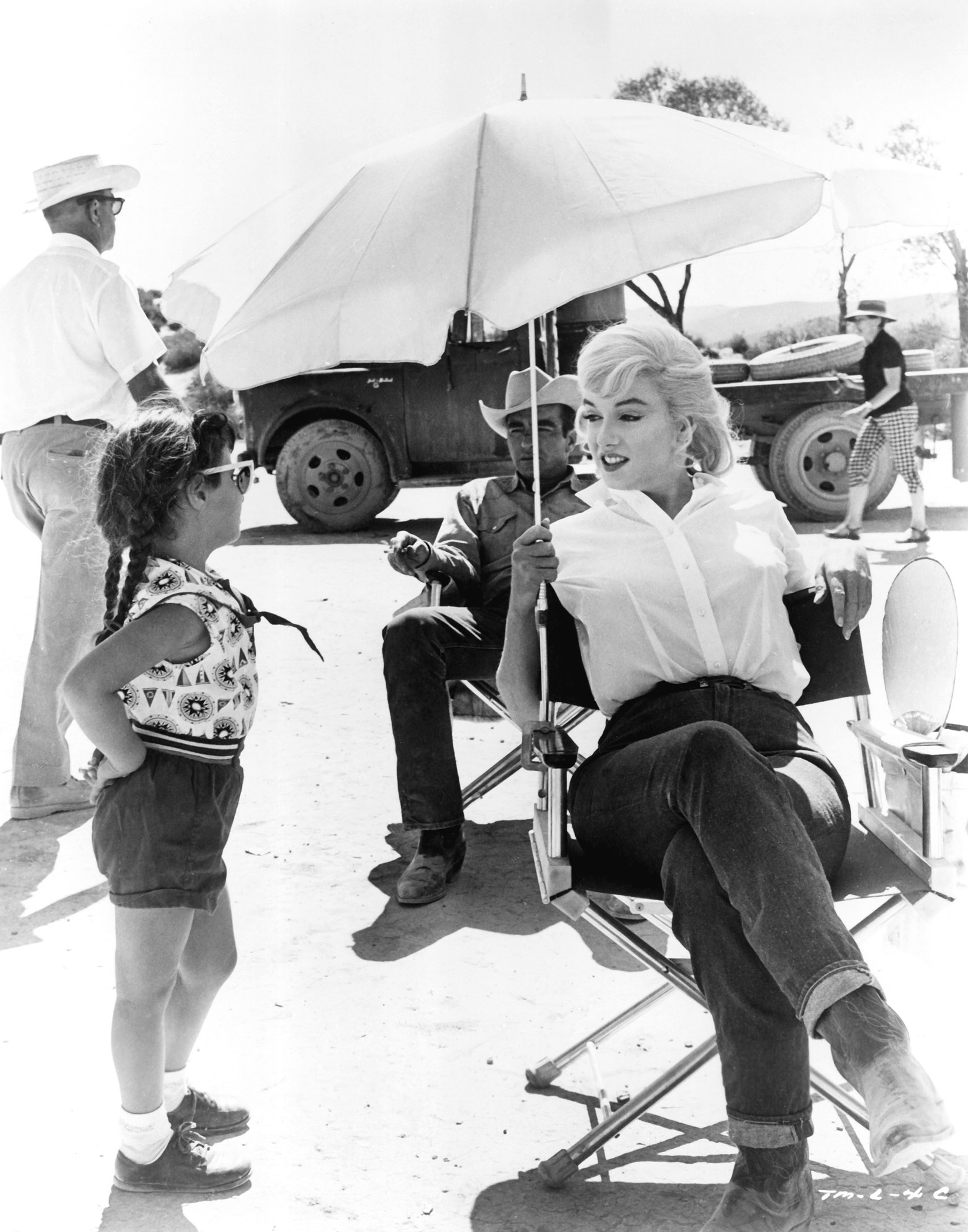 "Marilyn Monroe on set of ""the Misfits"", 1961."