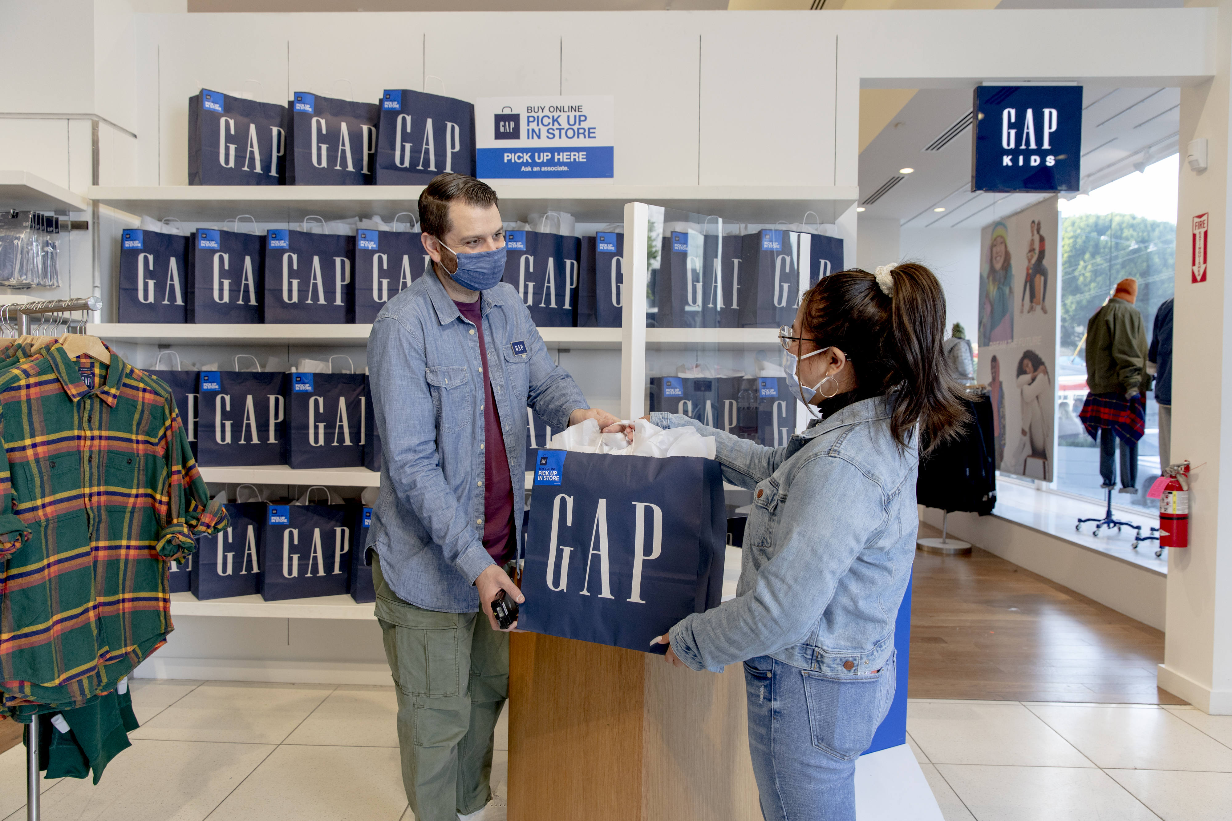gap store pick up in store mask