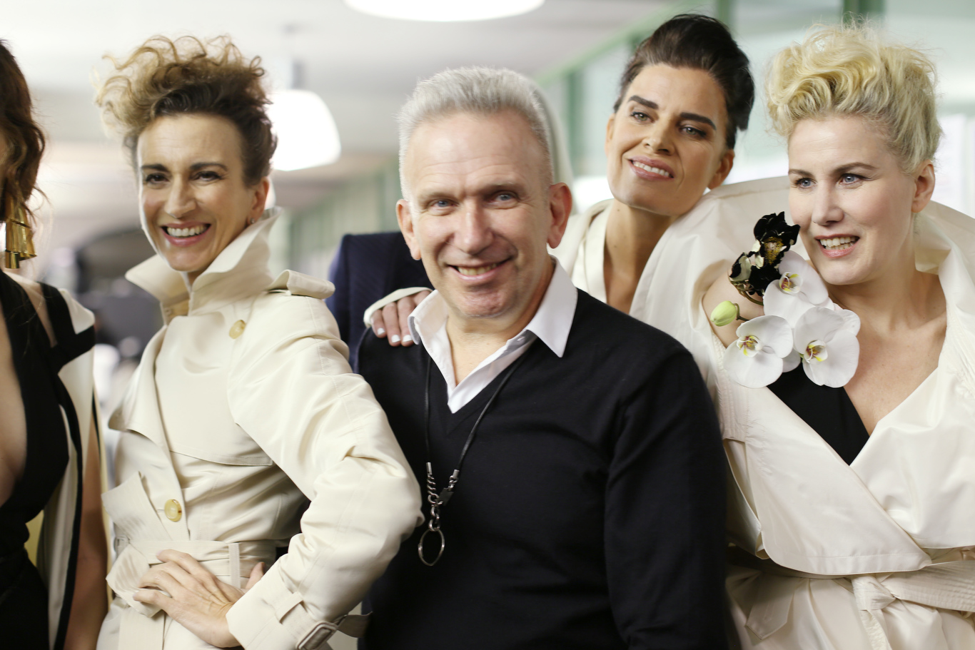 Fashion designer Jean Paul Gaultier at his spring 2015 haute couture show.