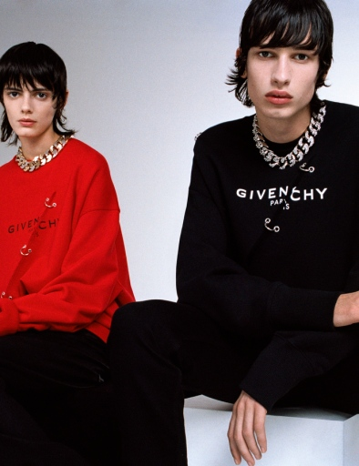 A look from Givenchy's teaser capsule collection by Matthew Williams