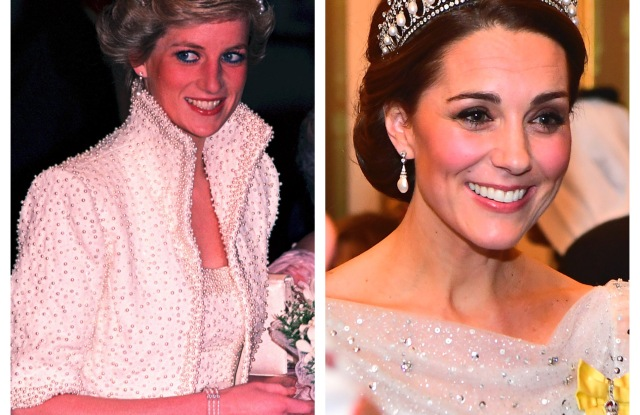 13 Times Kate Middleton Channeled Princess Diana S Style Photos Wwd