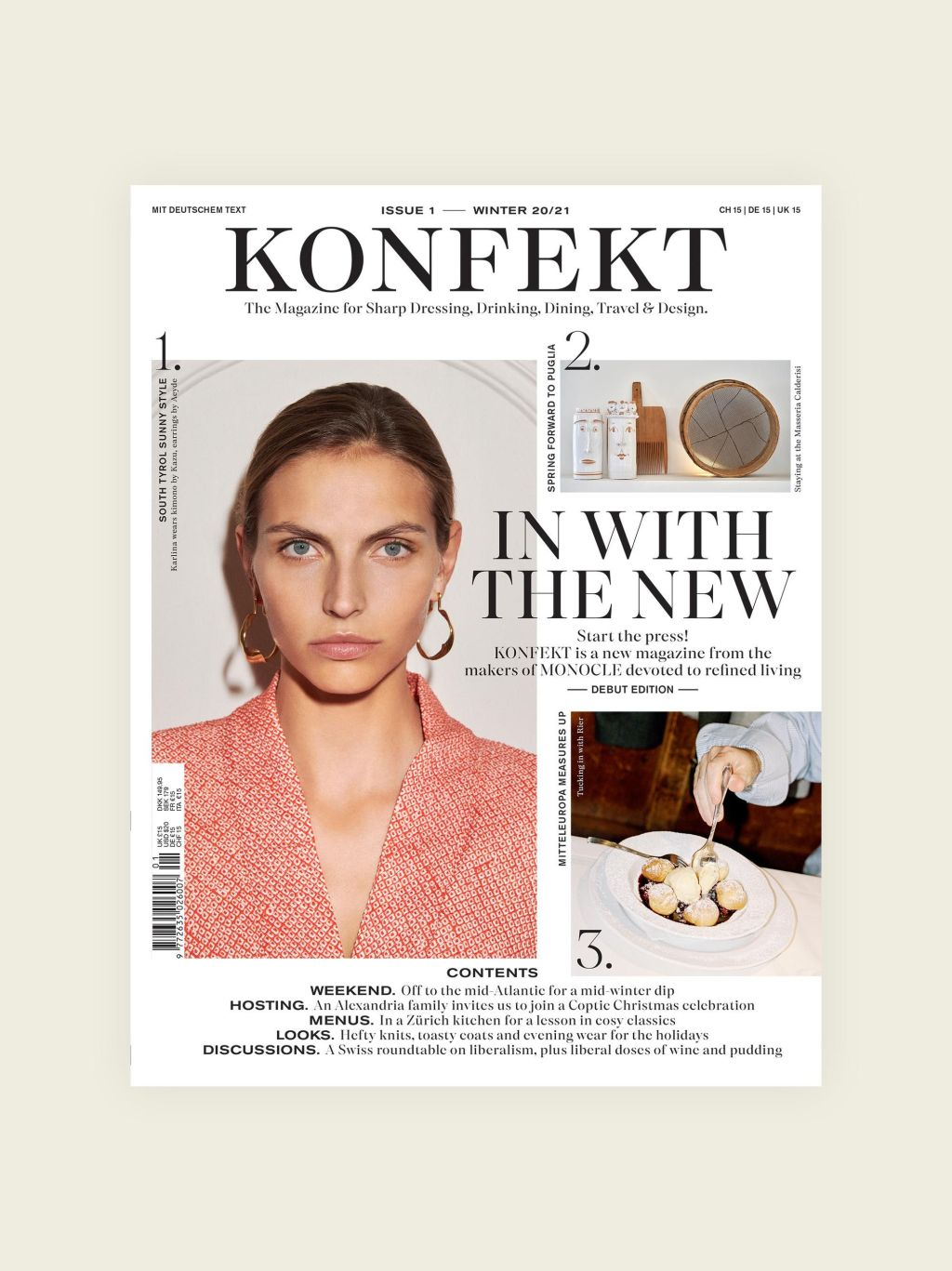 The launch issue cover of Konfekt