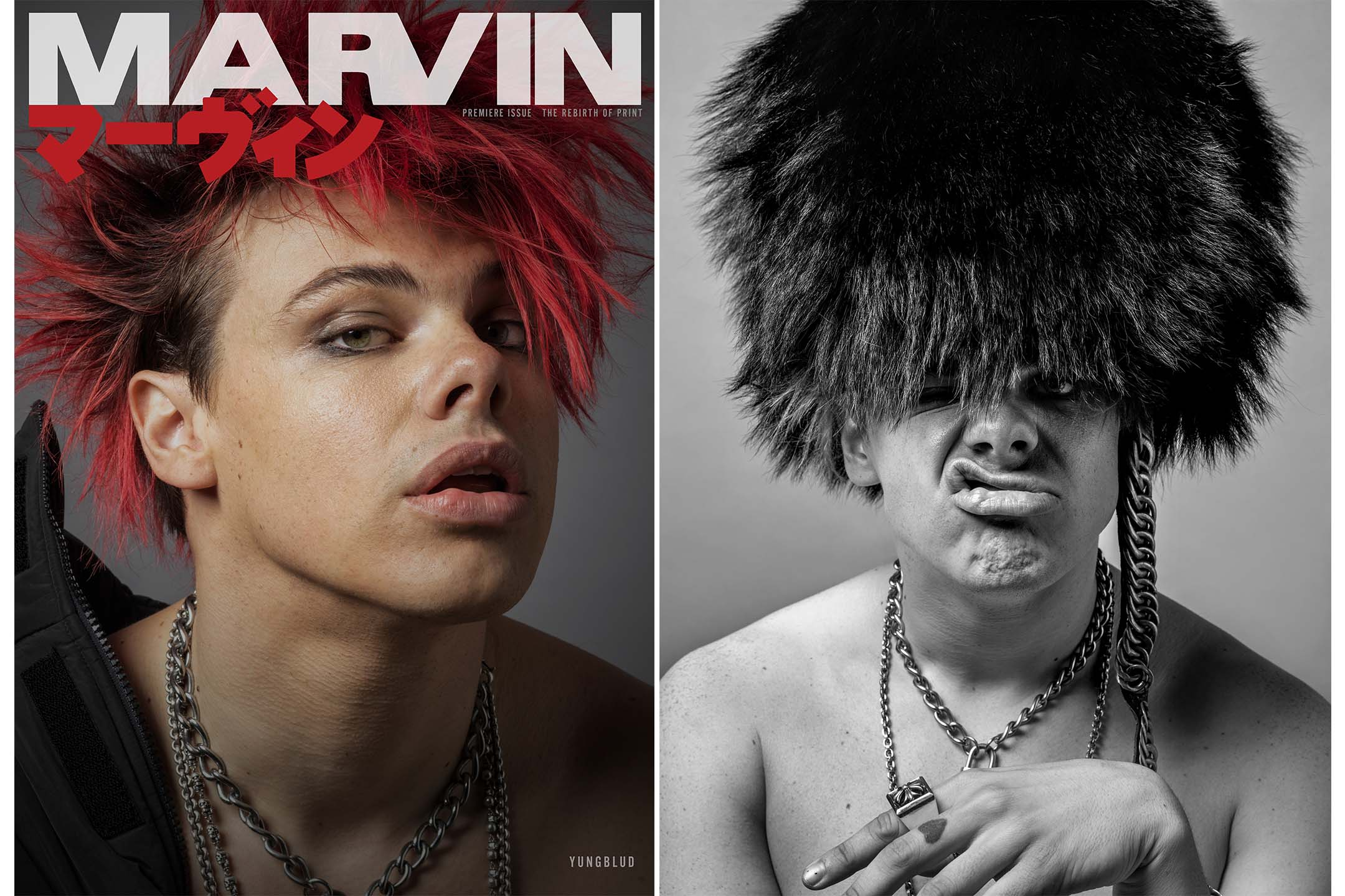 The premier issue of Marvin with cover star Yung Blud.