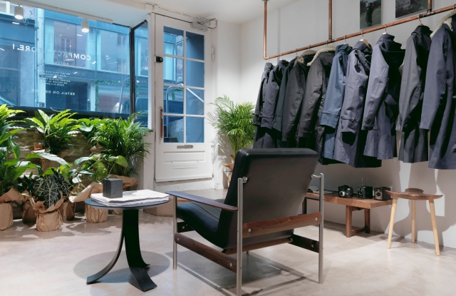 Inside the first Norwegian Rain Compact Store in Copenhagen.