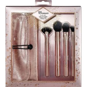 real techniques rosy all night brush set