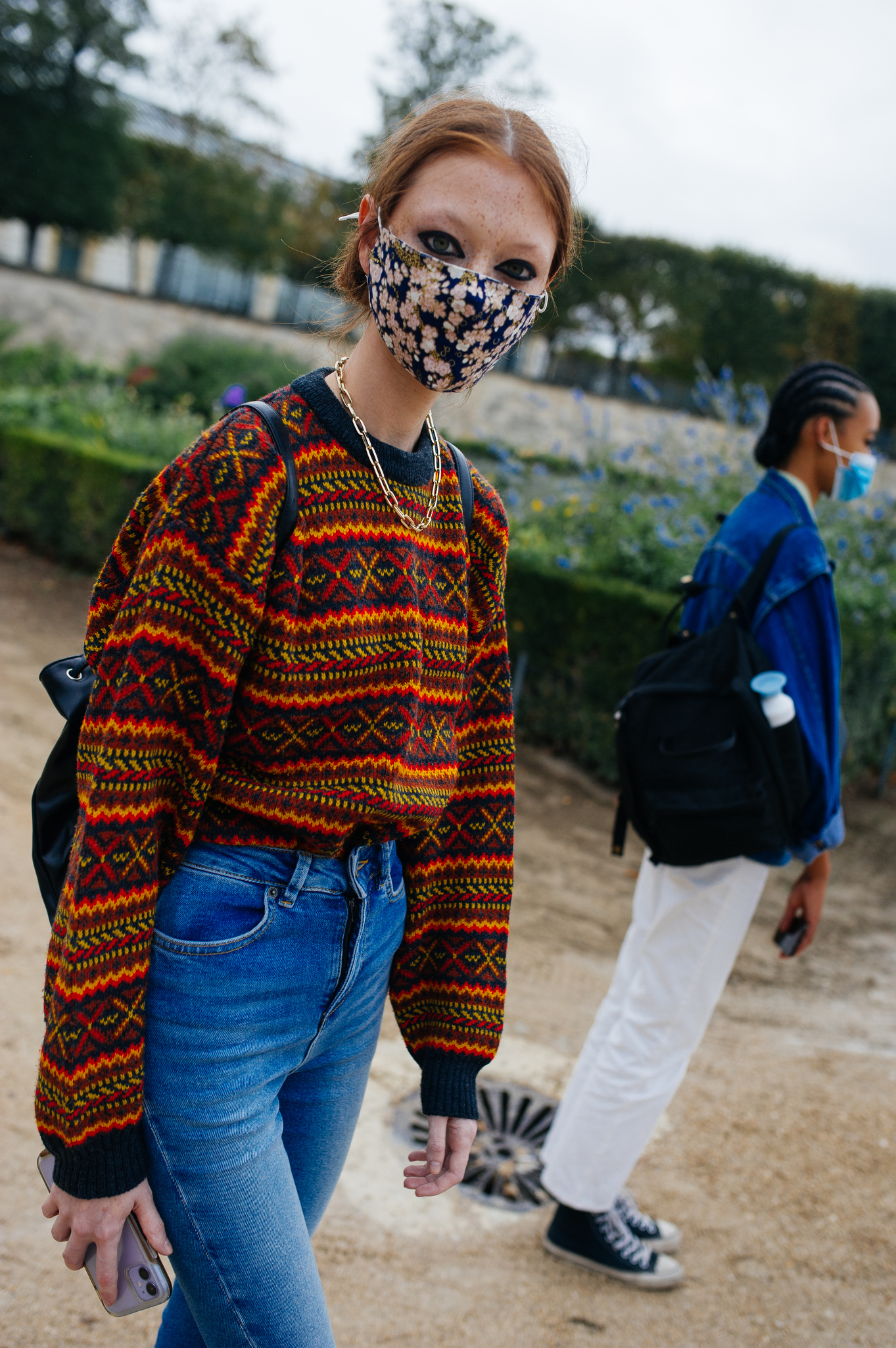 Street Style at Paris Fashion Week Ready to Wear Spring 2021, photographed in Paris on Sept 28 - Oct 6, 2020.