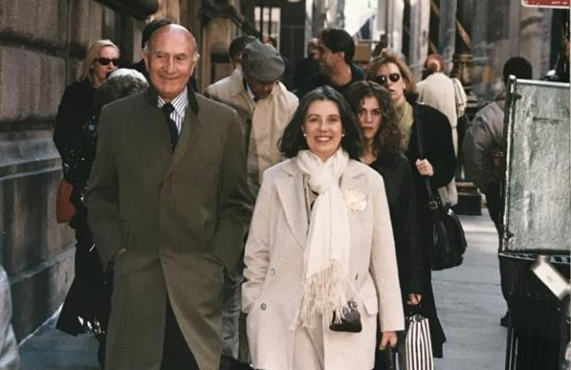 Beppe Modenese and Laura Biagiotti.