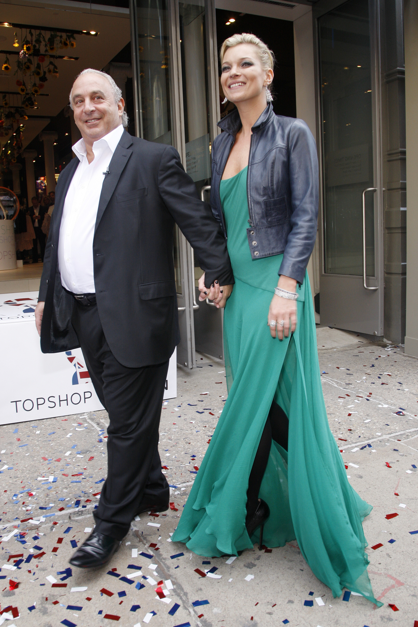 Sir Philip Green and Kate Moss attend the Topshop Flagship Opening in New York.